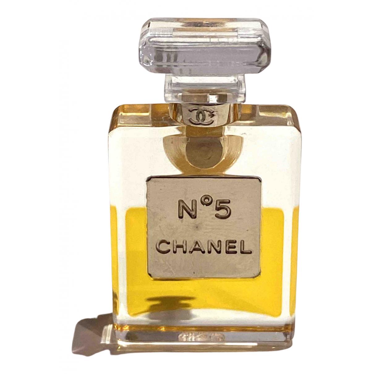 Broche en Plastico Amarillo Chanel