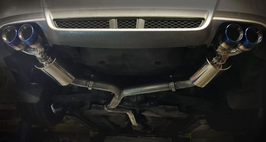 ETS 11-14 Subaru STI   WRX Catback Exhaust System WITH Resonator Blue Tips