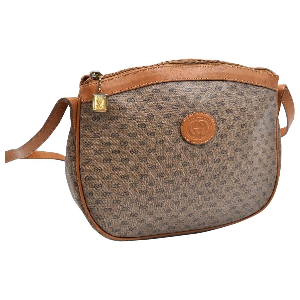 Gucci \N Handtasche in  Braun Kunststoff