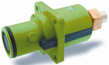 ITT Cannon , Veam Snaplock IP67 Green Panel Mount 1P Mains Connector Plug, Rated At 250.0A, 1.0 kV