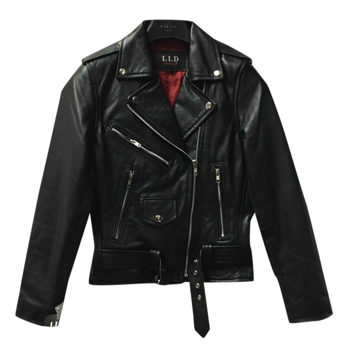 Non Signé / Unsigned N Black Leather jacket for Women 8 UK