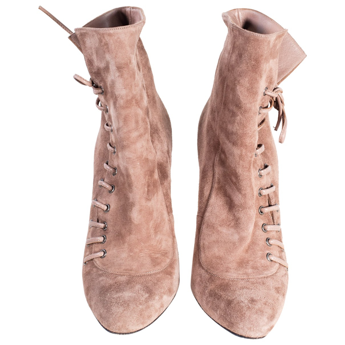 Barbara Bui N Beige Suede Ankle boots for Women 37 EU