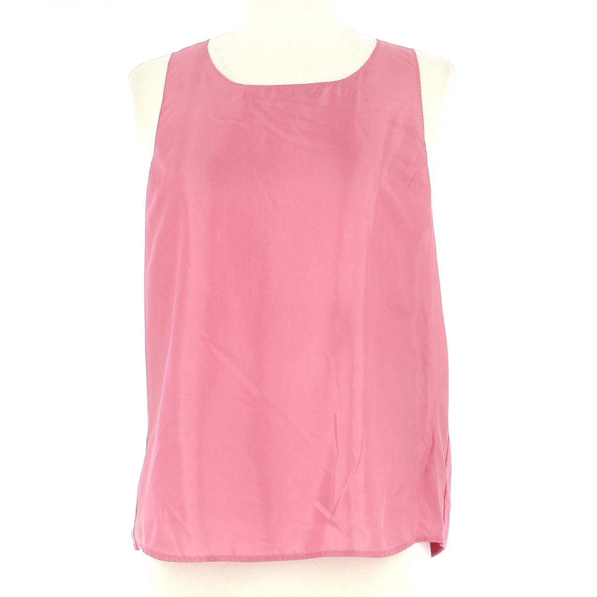 Twin Set - Top   pour femme en soie - rose