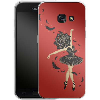 Samsung Galaxy A3 (2017) Silikon Handyhuelle - Black Swan von Enkel Dika