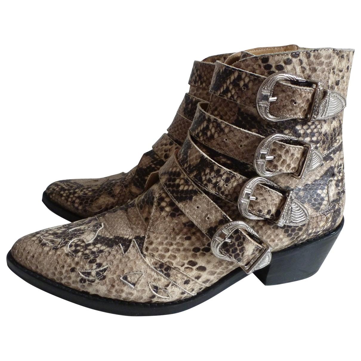Toga Pulla - Boots   pour femme en cuir - beige