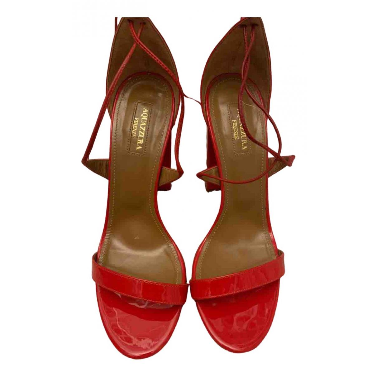 Aquazzura \N Sandalen in  Rot Lackleder