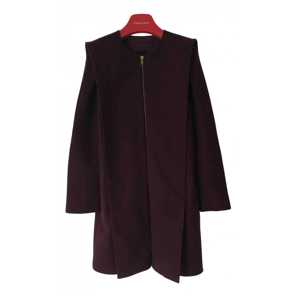 Cos N Burgundy Wool coat for Women 34 FR