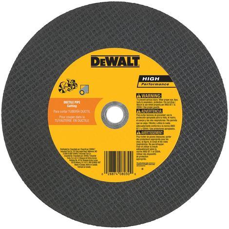 DeWalt 14 In. x 1/8 In. x 20 mm High Speed Ductile Cutting