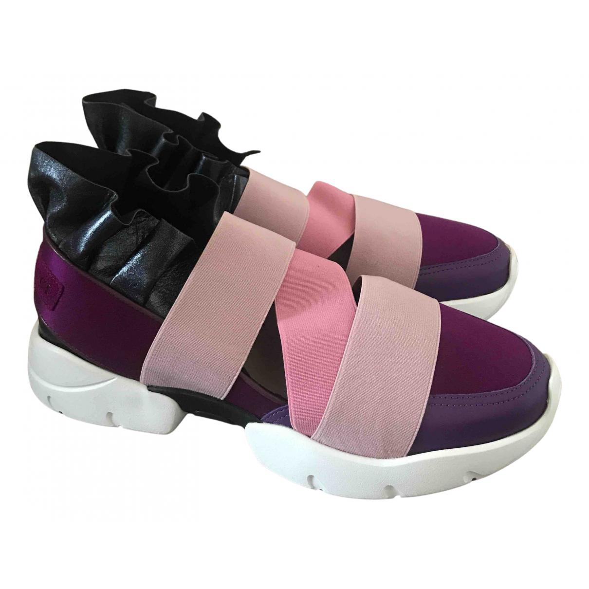 Emilio Pucci - Baskets   pour femme en toile - multicolore
