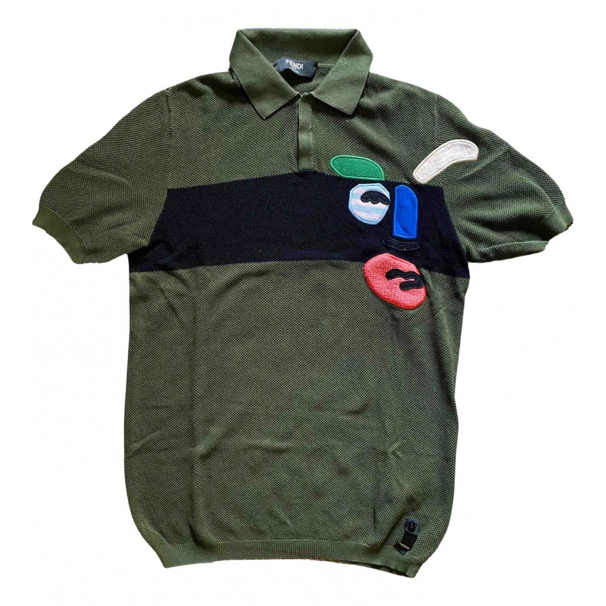Fendi - Polos   pour homme en coton - vert