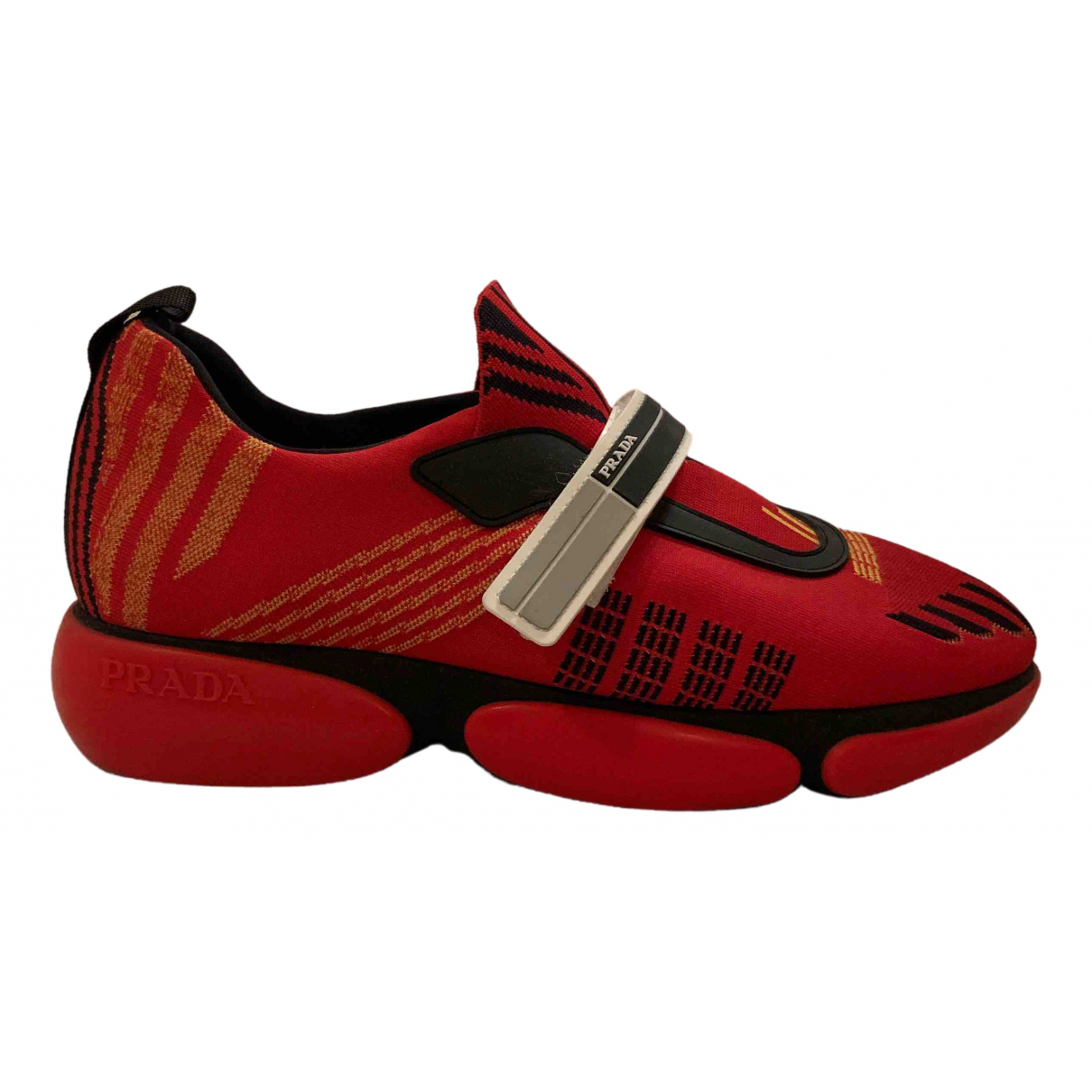Prada Cloudbust Sneakers in  Rot Polyester