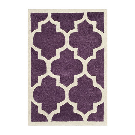 Safavieh Connor Geometric Hand Tufted Wool Rug, One Size , Purple