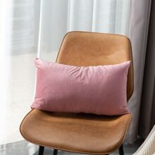 Solid Color Lumbar Pillow Cover Without Filler