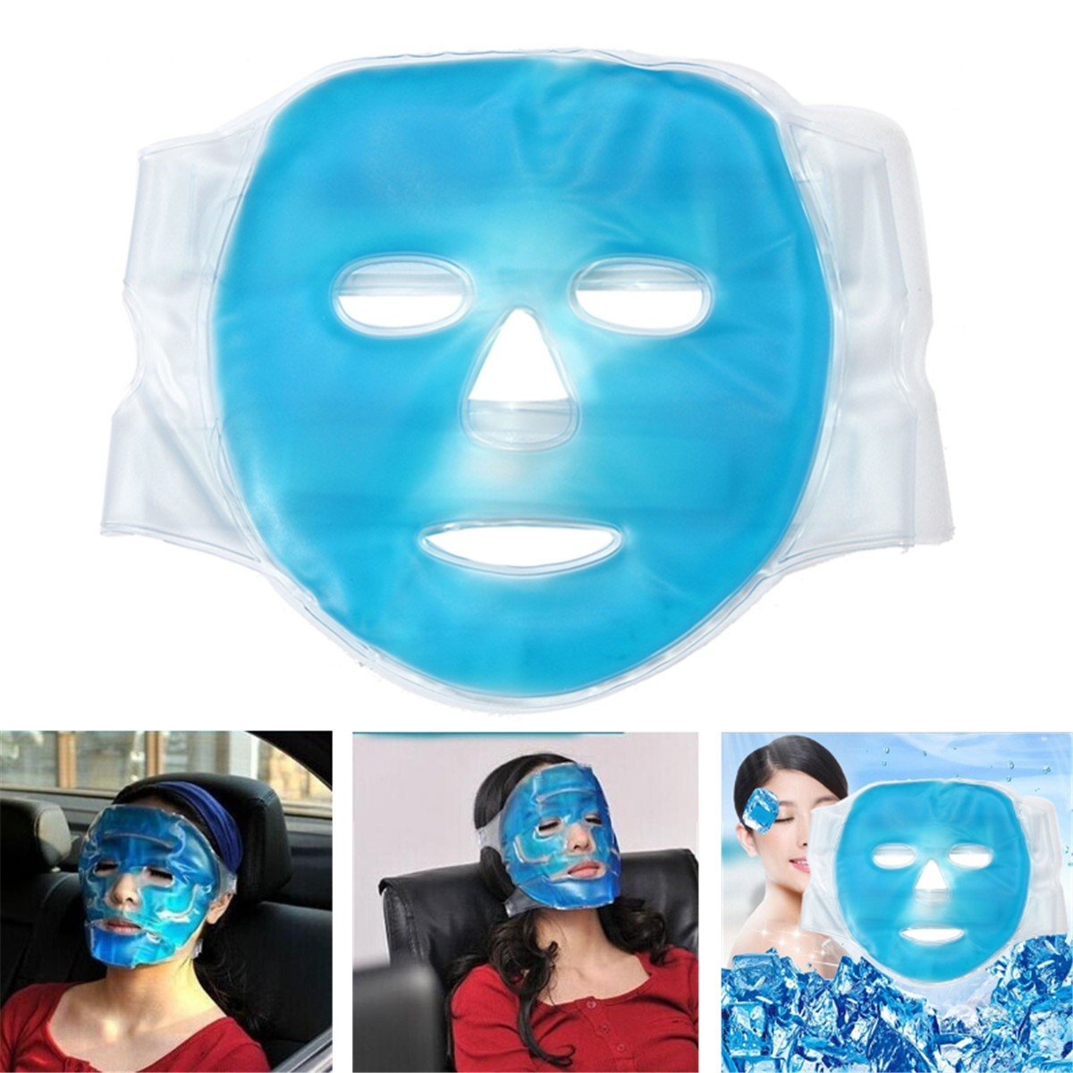 Face Cooling Mask Improving Blood Circulation Hot Gel Beauty Facemask Relax Face Skin Care