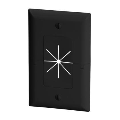 Plaque fendue avec ouverture flexible noir / ivoire / amande pâle / blanc - Monoprice® - noir