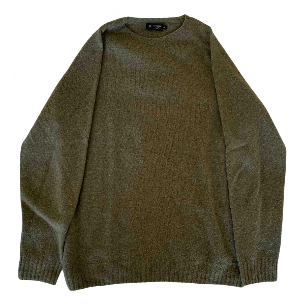 Hackett London \N Pullover.Westen.Sweatshirts  in  Gruen Wolle