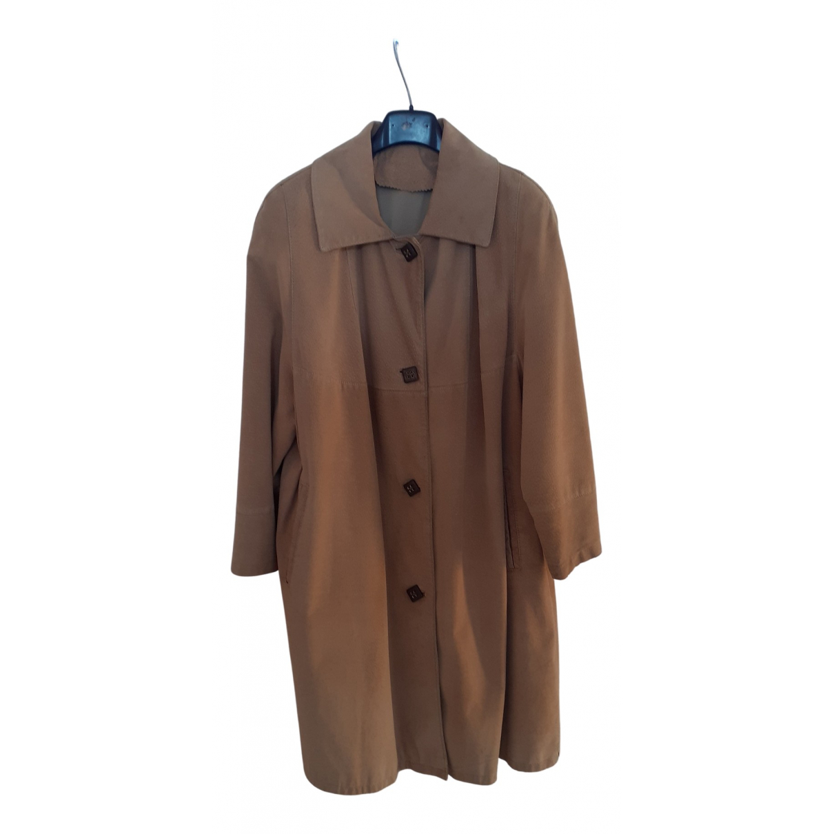 Non Signe / Unsigned \N Trench in  Beige Veloursleder
