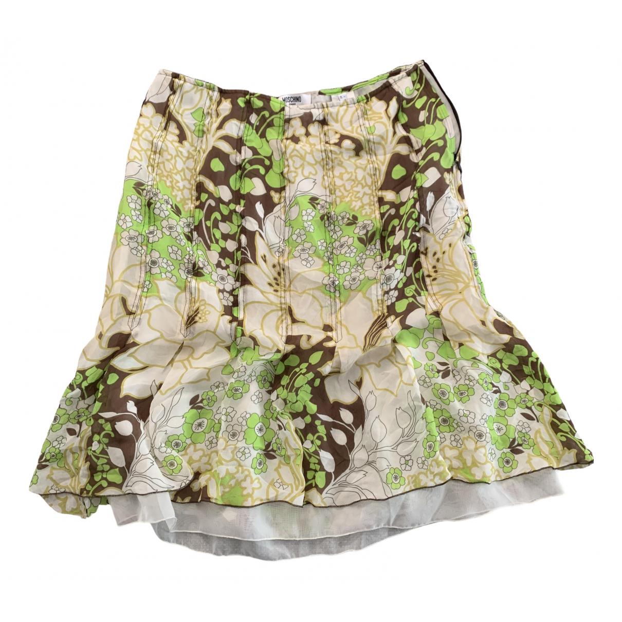 Falda midi de Seda Moschino Cheap And Chic
