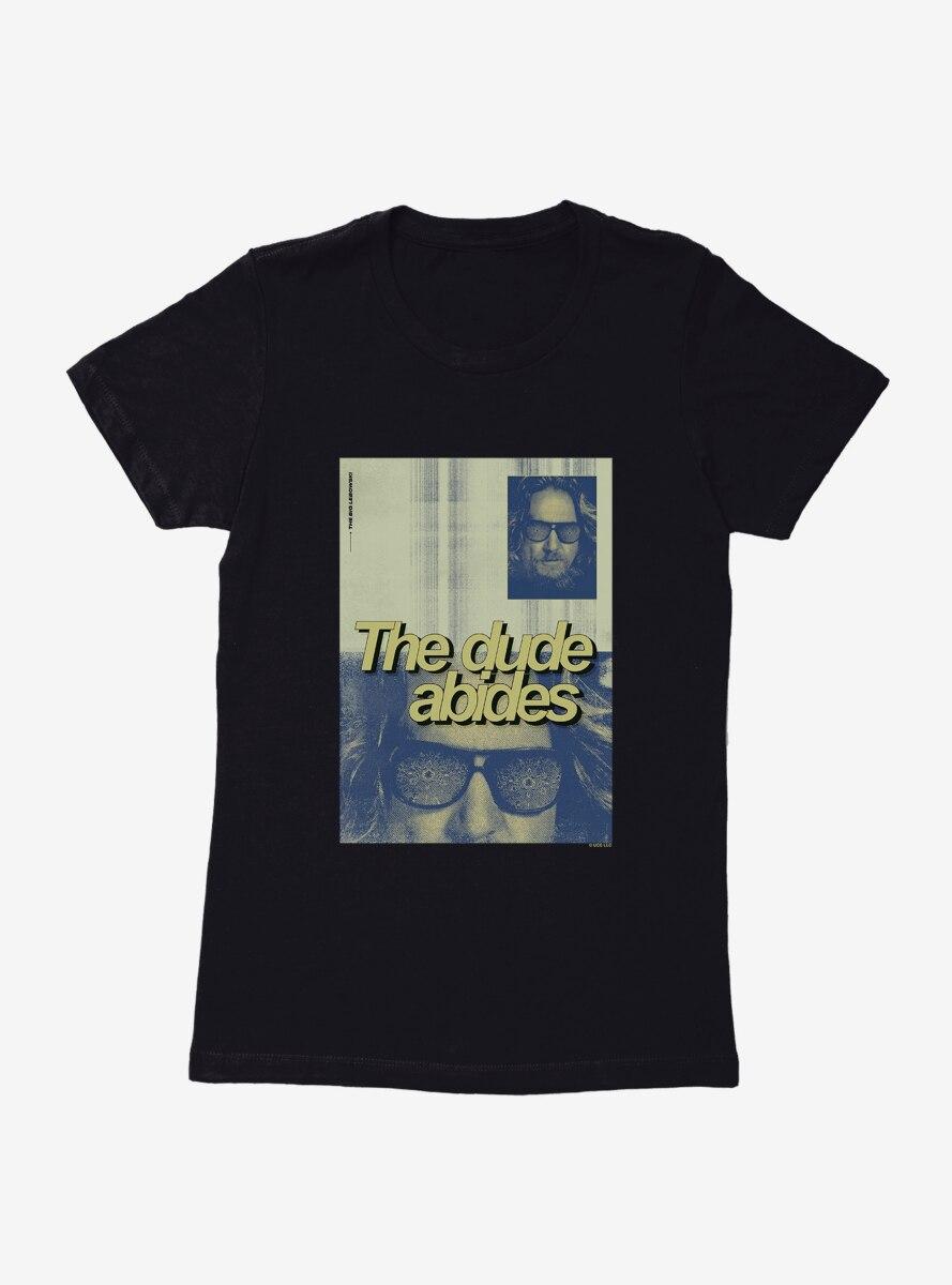 Big Lebowski The Dude Abides Womens T-Shirt