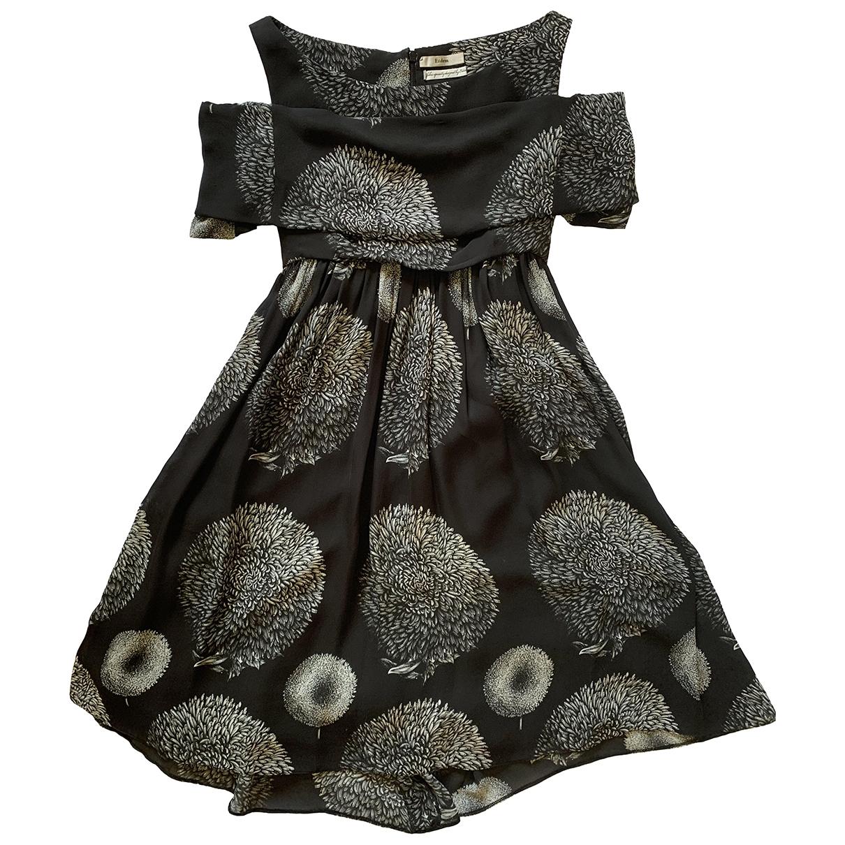 Erdem - Robe   pour femme en soie - noir