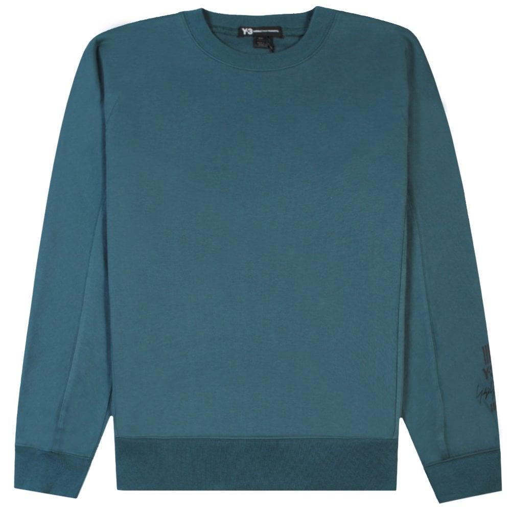 Y-3 Arm Logo Sweatshirt Green Colour: GREEN, Size: SMALL