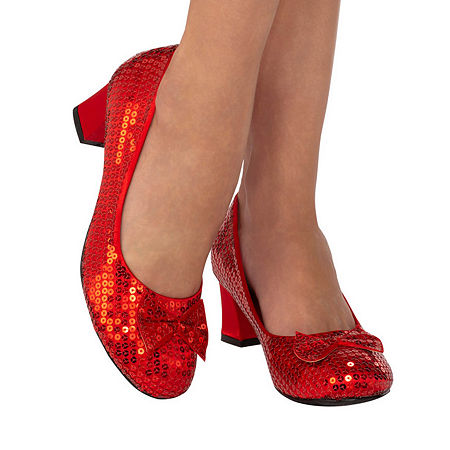 Red Sequin Adult Pump Costume, 8 , Red