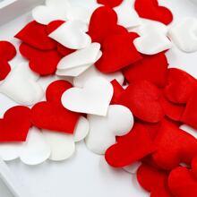200 piezas confeti de fiesta en forma de corazon