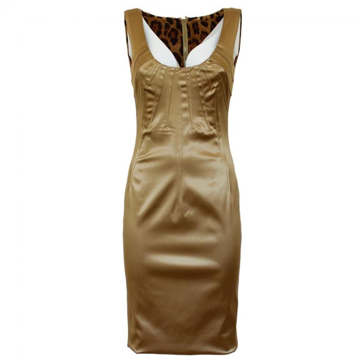 Dolce & Gabbana \N Kleid in  Gold Baumwolle