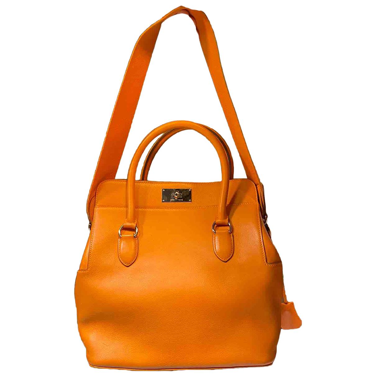 Hermès Toolbox Orange Leather handbag for Women N