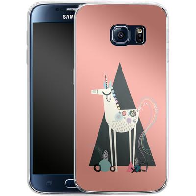 Samsung Galaxy S6 Silikon Handyhuelle - Unicorn Triangle von Victoria Topping