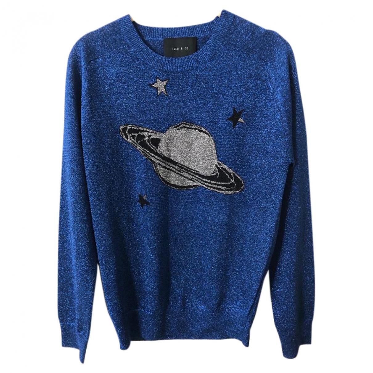 Lulu & Co \N Pullover in  Blau Polyester