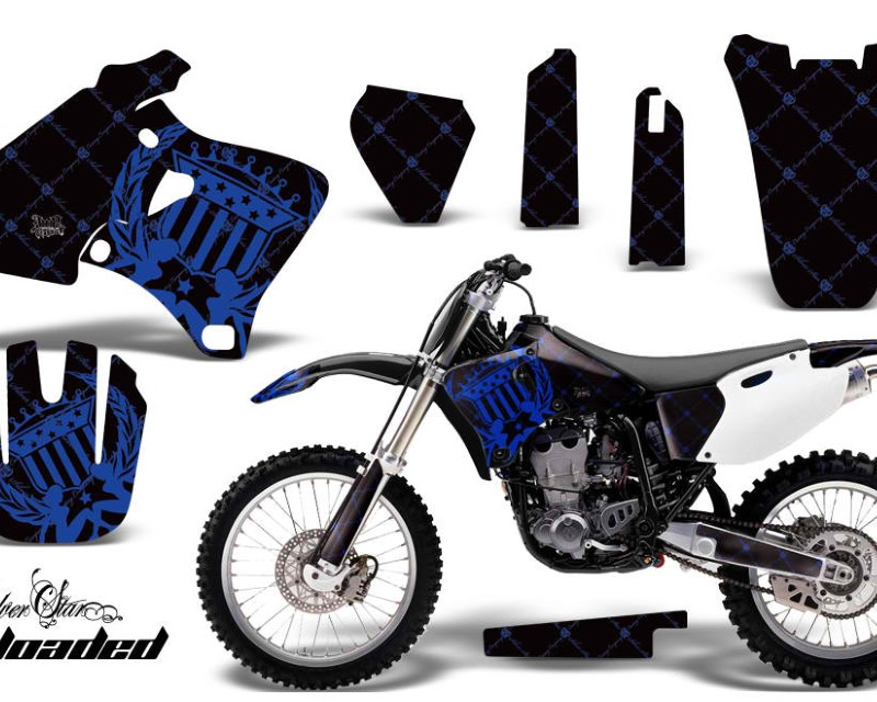AMR Racing Dirt Bike Graphics Kit Decal Wrap For Yamaha YZ 250F/400F/426F 1998-2002áRELOADED BLUE BLACK