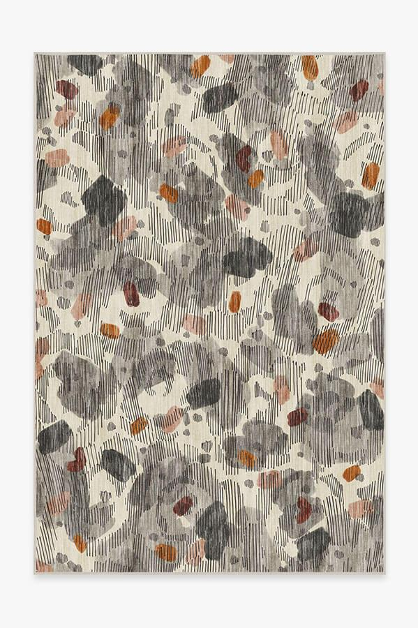Washable Rug Cover | Leona Warm Grey Rug | Stain-Resistant | Ruggable | 6'x9'