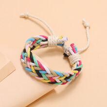 Colorful Braided String Bracelet