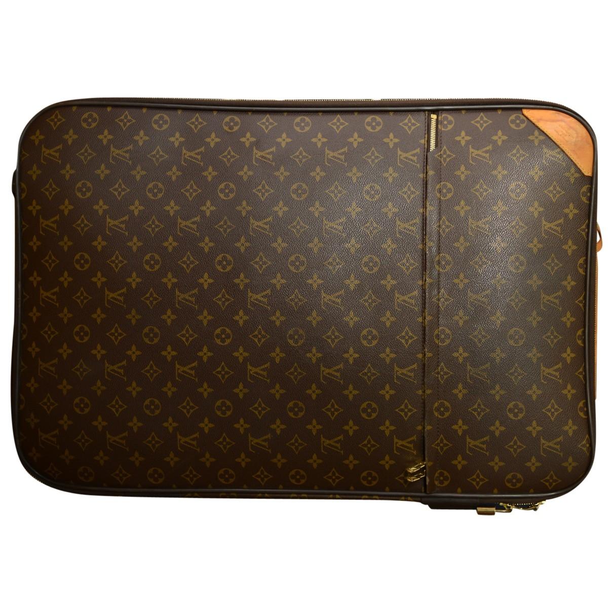 Louis Vuitton Pegase Brown Cloth Travel bag for Women \N