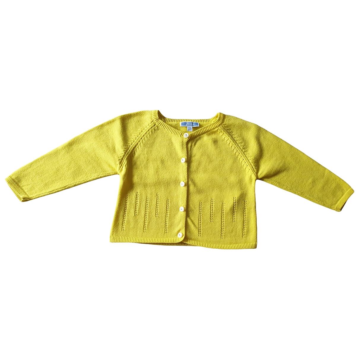 Jacadi \N Pullover, StrickJacke in  Gelb Baumwolle