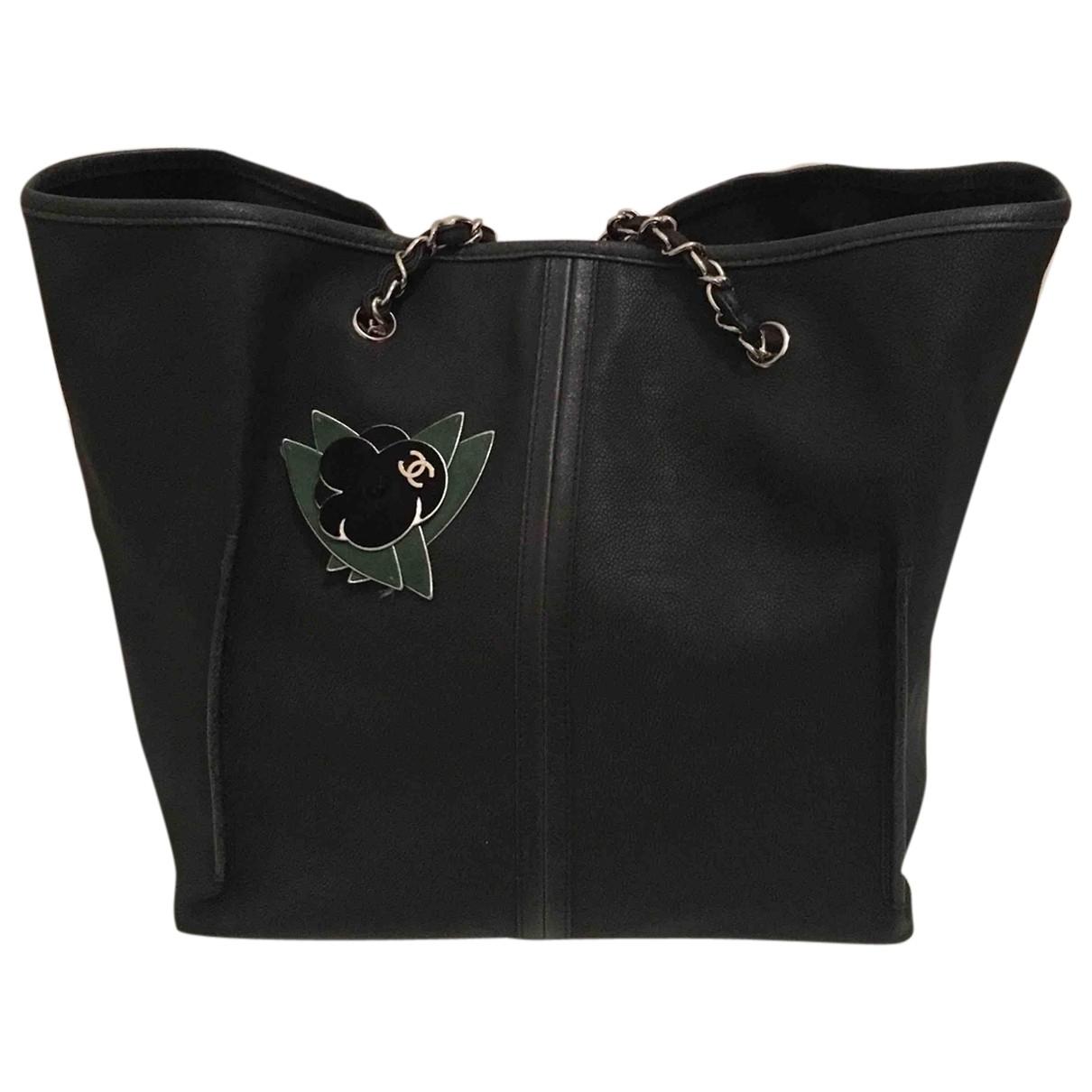 Chanel - Sac a main   pour femme en cuir - anthracite