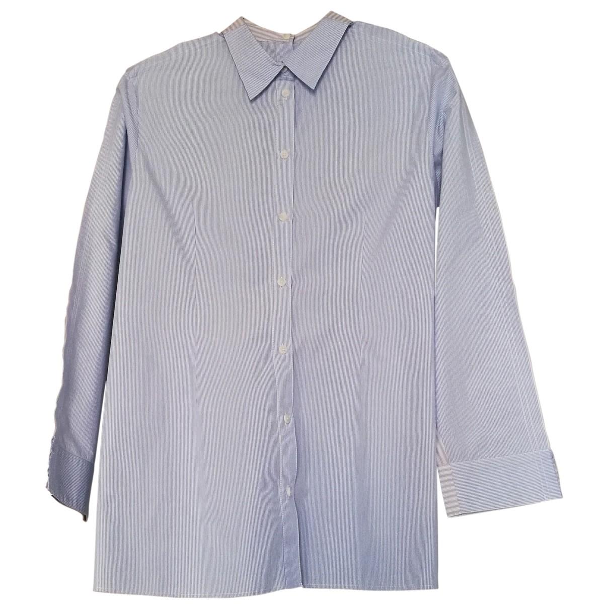 Maison Martin Margiela - Top   pour femme en coton - bleu