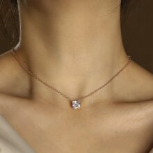 Collar colgante de diamante de imitacion