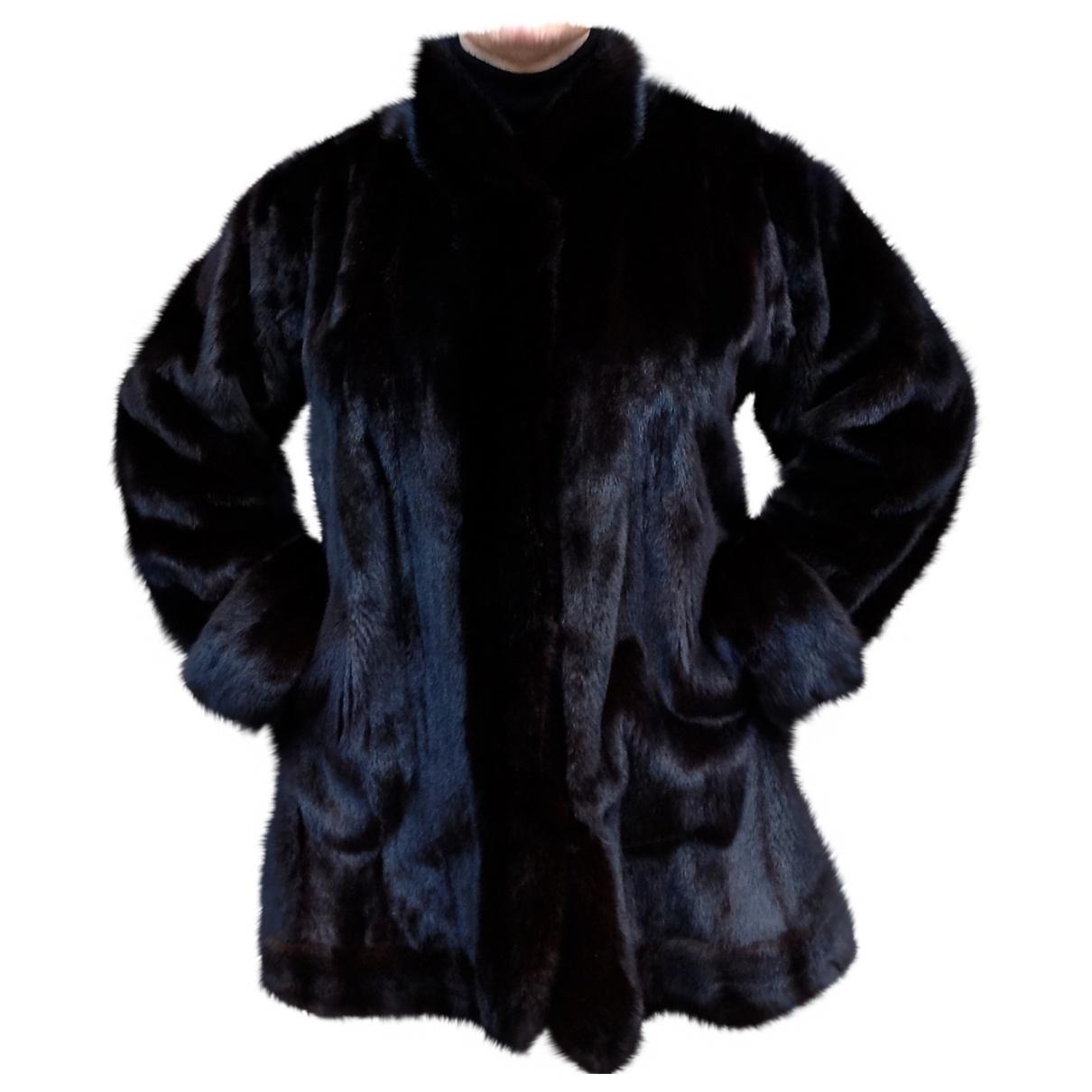 Yves Saint Laurent - Manteau   pour femme en vison - noir