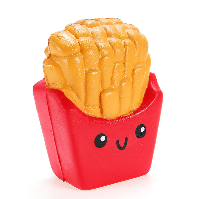 SanQi Elan Squishy French Fries Chips Slow Rising With Packaging Collection Gift Decor Toy