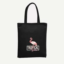 Tragetasche mit Flamingo Muster
