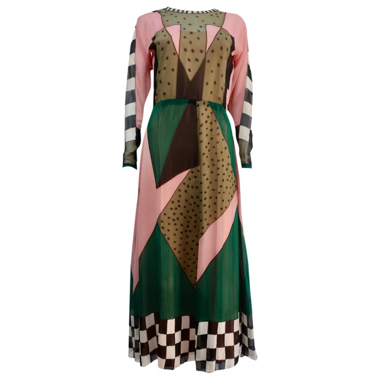 Non Signé / Unsigned \N Multicolour Silk dress for Women S International