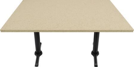 Q407 30X48-B10-0522J 30x48 Cambrian Gold Quartz Tabletop with 5