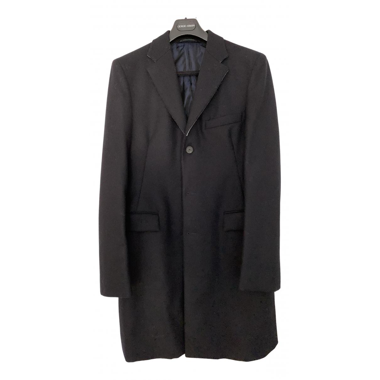 Jil Sander - Manteau   pour homme en laine - marine