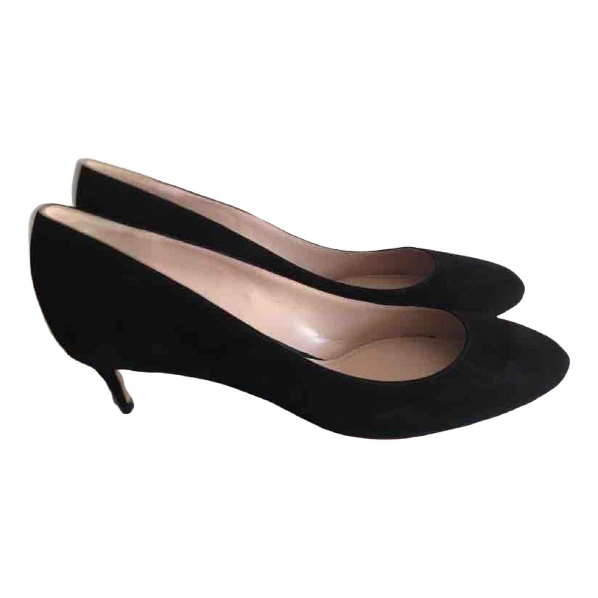Miu Miu \N Pumps in  Schwarz Veloursleder