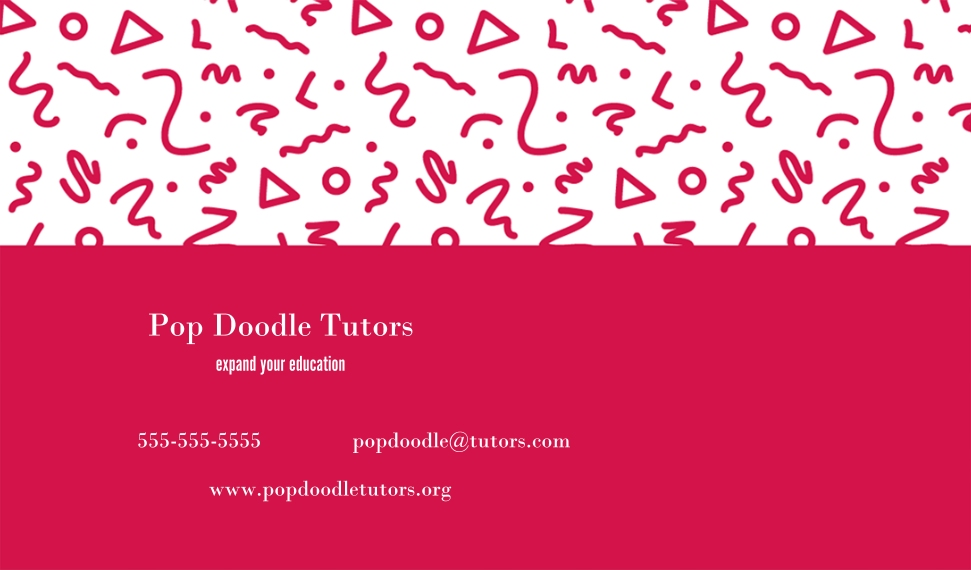 Education Business Cards, Set of 40, Card & Stationery -Pop Doodles