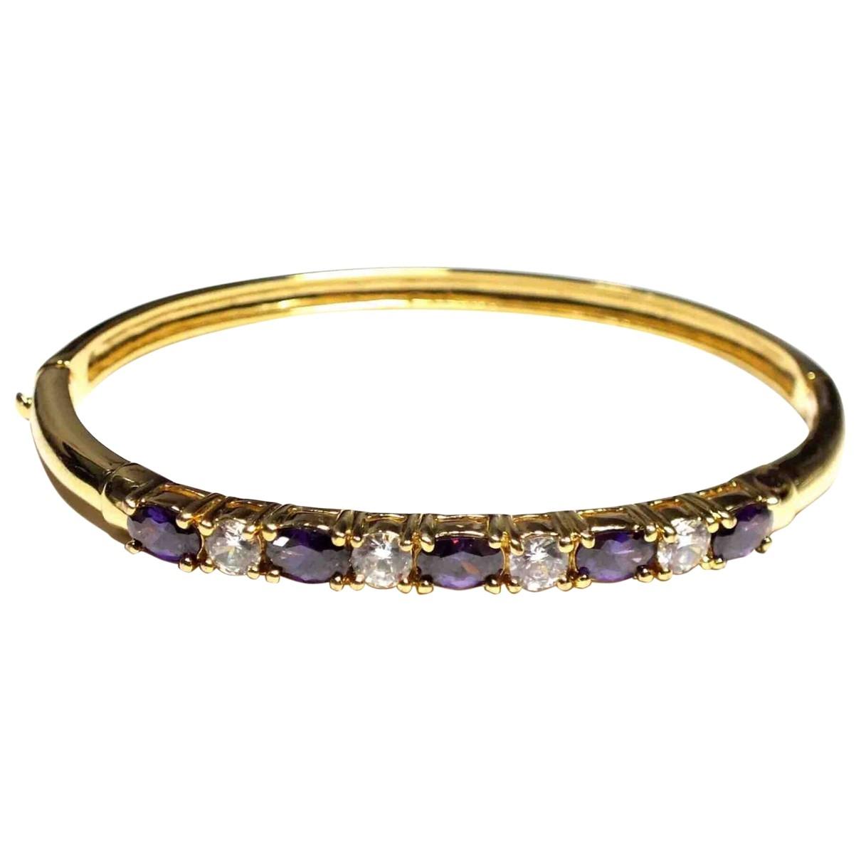 - Bracelet Amethyste pour femme en metal - dore