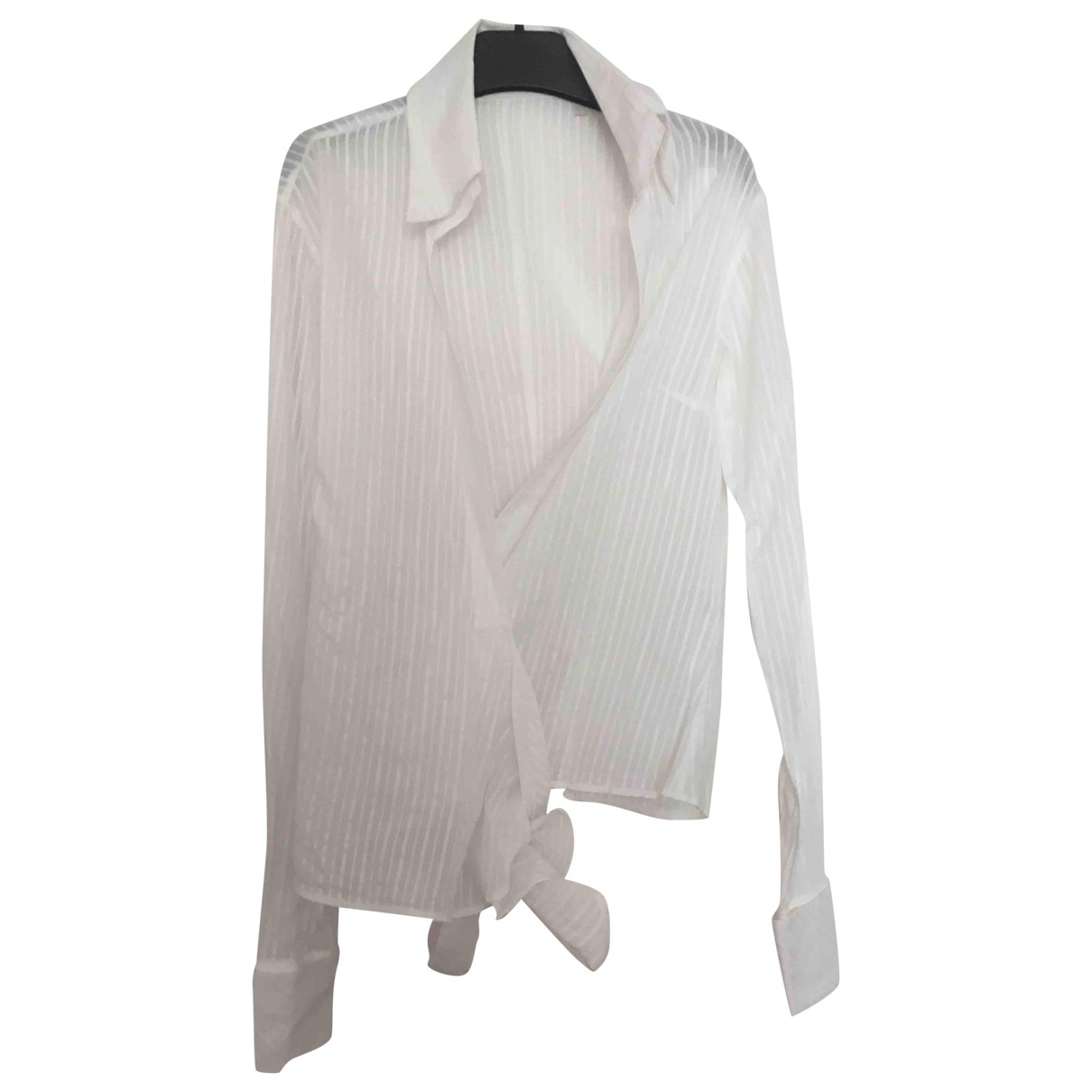 Massimo Dutti \N Top in  Weiss Baumwolle