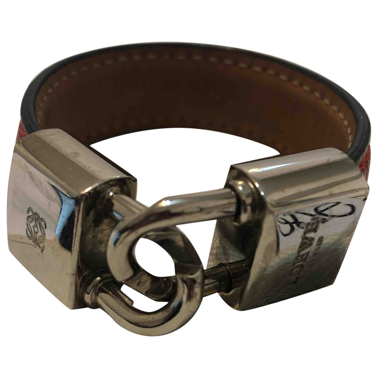 Loewe \N Red Leather bracelet for Women \N